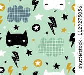 seamless childish pattern with... | Shutterstock .eps vector #1129275056