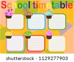 school timetable  a weekly... | Shutterstock .eps vector #1129277903