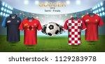 semi finals of football cup... | Shutterstock .eps vector #1129283978