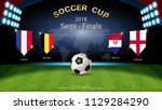 semi finals of football cup... | Shutterstock .eps vector #1129284290