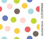 seamless pattern  polka dot...   Shutterstock .eps vector #1129285868