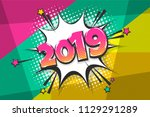 2019 happy new year christmas... | Shutterstock .eps vector #1129291289