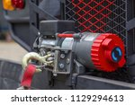 winches on the bumper car  for... | Shutterstock . vector #1129294613