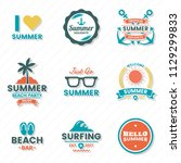summer retro vector logo for... | Shutterstock .eps vector #1129299833