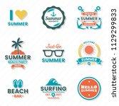 summer retro vector logo for...   Shutterstock .eps vector #1129299833
