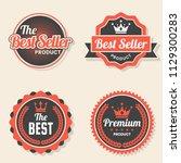 vintage retro vector logo for... | Shutterstock .eps vector #1129300283