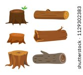 wood vector collection design | Shutterstock .eps vector #1129302383
