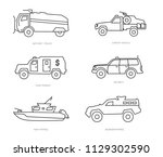 defense vehicle icons | Shutterstock .eps vector #1129302590