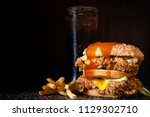 close up of home made burgers | Shutterstock . vector #1129302710