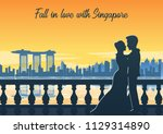 lover hug together nearby of... | Shutterstock .eps vector #1129314890