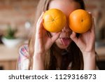 healthy balanced eating for... | Shutterstock . vector #1129316873