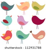 vector collection of pastel... | Shutterstock .eps vector #112931788