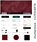 dark red vector web ui kit with ...