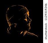 man portrait silhouette in... | Shutterstock .eps vector #1129319246