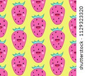 seamless pattern with cute... | Shutterstock .eps vector #1129323320