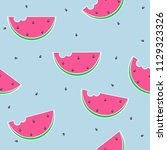 seamless pattern with... | Shutterstock .eps vector #1129323326