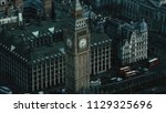 aerial view of the big ben and... | Shutterstock . vector #1129325696