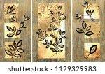 collection of designer oil... | Shutterstock . vector #1129329983