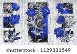 collection of designer oil... | Shutterstock . vector #1129331549