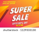 super sale poster  abstract... | Shutterstock .eps vector #1129333130
