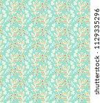 seamless ornamental vector...   Shutterstock .eps vector #1129335296