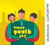 happy youth day celebration... | Shutterstock .eps vector #1129339799