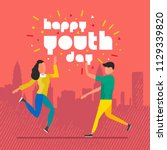 happy youth day celebration... | Shutterstock .eps vector #1129339820