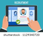 hiring and recruitment concept... | Shutterstock .eps vector #1129340720