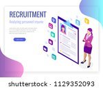 isometric hiring and... | Shutterstock .eps vector #1129352093