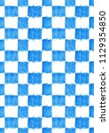seamless pattern blue square... | Shutterstock . vector #1129354850