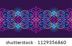 vector vivid illustration. neon ... | Shutterstock .eps vector #1129356860