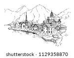 vector illustration of scenic... | Shutterstock .eps vector #1129358870