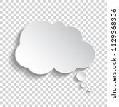 white blank paper speech bubble ... | Shutterstock .eps vector #1129368356