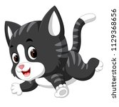 cute cat cartoon | Shutterstock . vector #1129368656