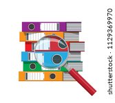 files  ring binders and and...   Shutterstock .eps vector #1129369970