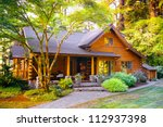 Modern Log Cabin Home In A...