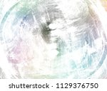 circle grunge doodle. brush... | Shutterstock . vector #1129376750
