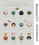 dogs by country of origin.... | Shutterstock .eps vector #1129390358