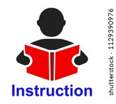 an read a book simple icon....   Shutterstock .eps vector #1129390976