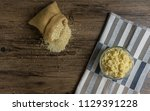 quinoa is cooked in a glass... | Shutterstock . vector #1129391228
