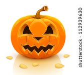halloween pumpkin isolated on... | Shutterstock .eps vector #112939630