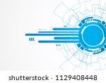 abstract technology background  ... | Shutterstock .eps vector #1129408448