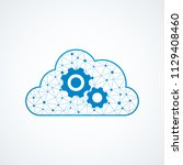 technology gear icon with cloud | Shutterstock .eps vector #1129408460