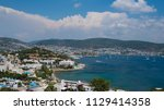 beautiful sea view on hotels... | Shutterstock . vector #1129414358