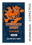 happy halloween vertical banner.... | Shutterstock .eps vector #1129417910