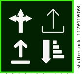 set of 4 arrows filled icons...   Shutterstock .eps vector #1129419098