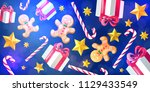 christmas and new year 2019... | Shutterstock .eps vector #1129433549