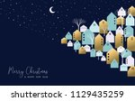 merry christmas and happy new... | Shutterstock .eps vector #1129435259