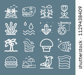 nature icon set   outline... | Shutterstock .eps vector #1129438409