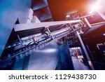 beverage factory interior.... | Shutterstock . vector #1129438730